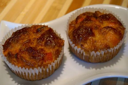 Home food: Маффины с ветчиной, сыром и сладким перцем / Muffins with ham, cheese and sweet pepper