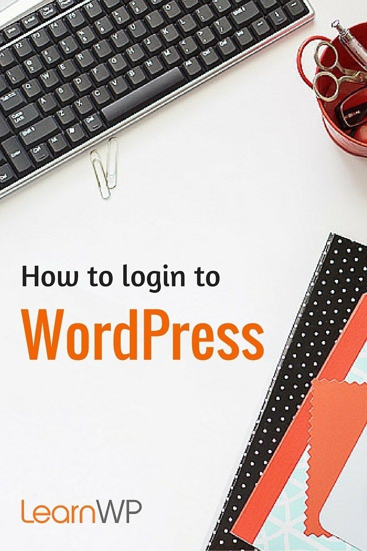New to WordPress and don't know where or how to log in? Here's where #WordPress Beginners need to start.