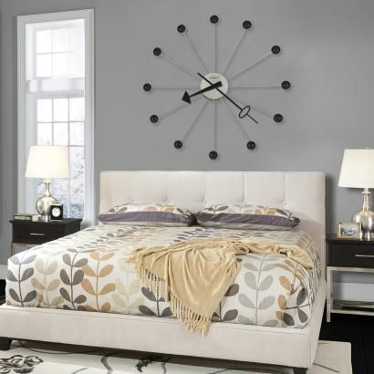 42in Oversized Retro Gallery Wall Clock Brushed Nickel Finish - CHM1972