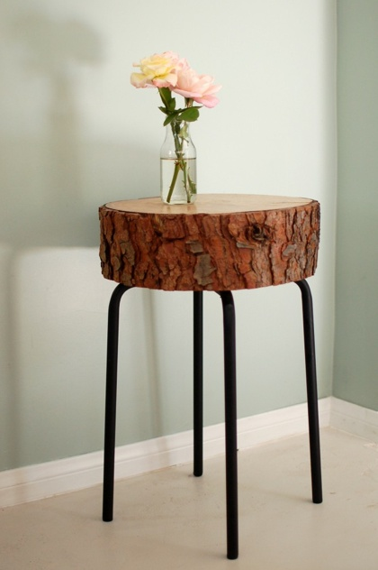 Use of wood slices