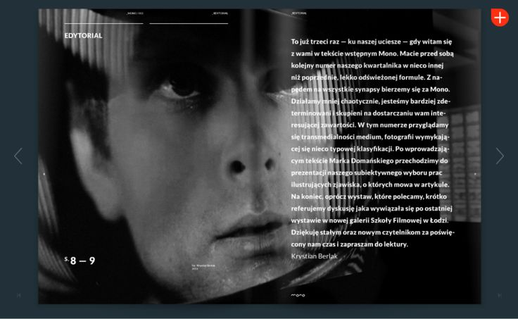 MONO magazine http://issuu.com/kwartalnikmono layout / magazine design  Akkurat www.facebook.com/akkuratstudio