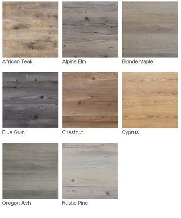 Belgotex faux wood finish vinyl floor coverings