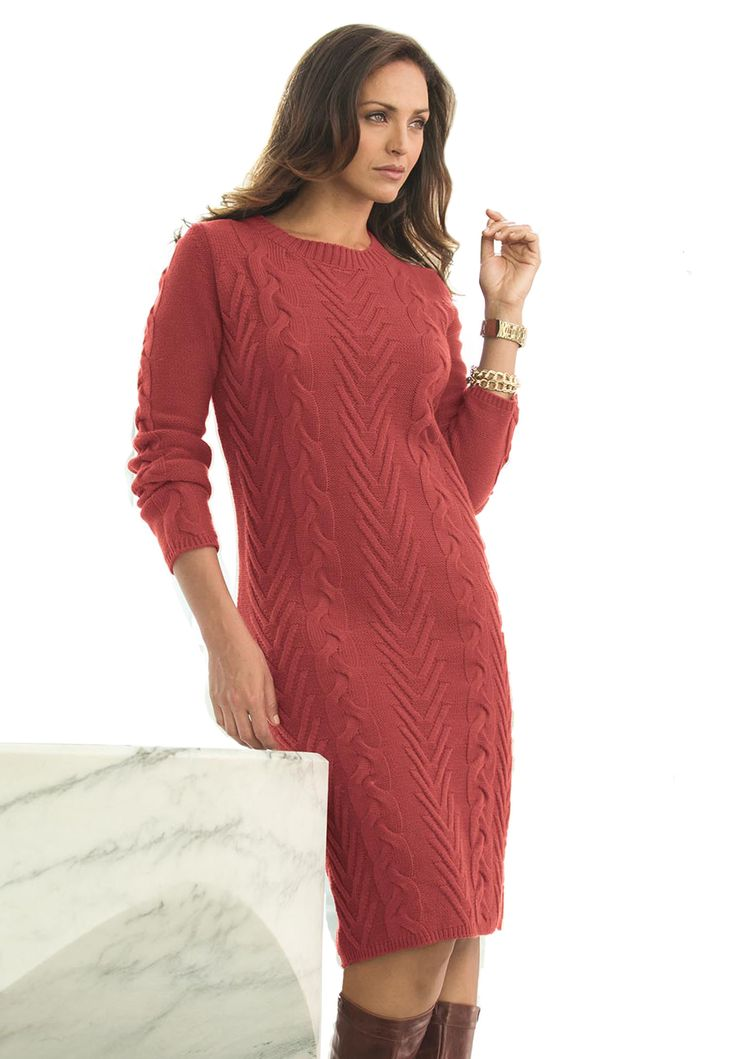 16 best Sweater Dresses images on Pinterest | Cable knit sweaters ...