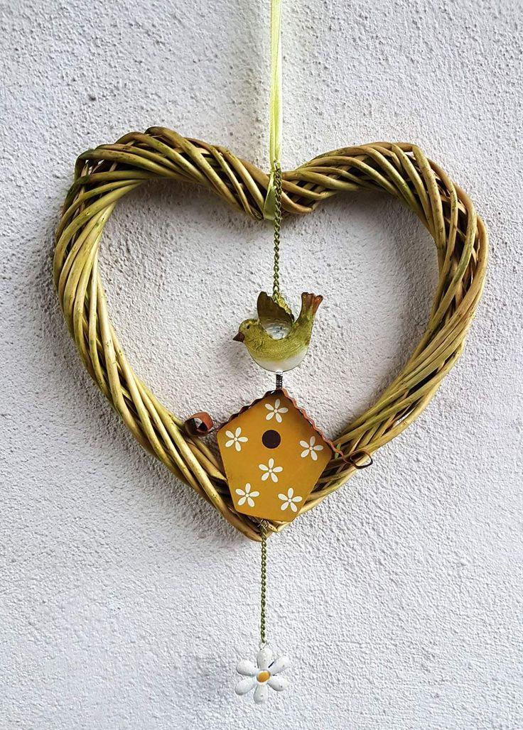 Fensterschmuck - Herz ♥ Frühling ♥ Vögelchen ♥ grün - ein Designerstück von blumen-atelier bei DaWanda