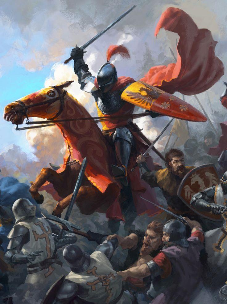 Battle of Grunwald 1410. In the middle Zawisza Czarny ...