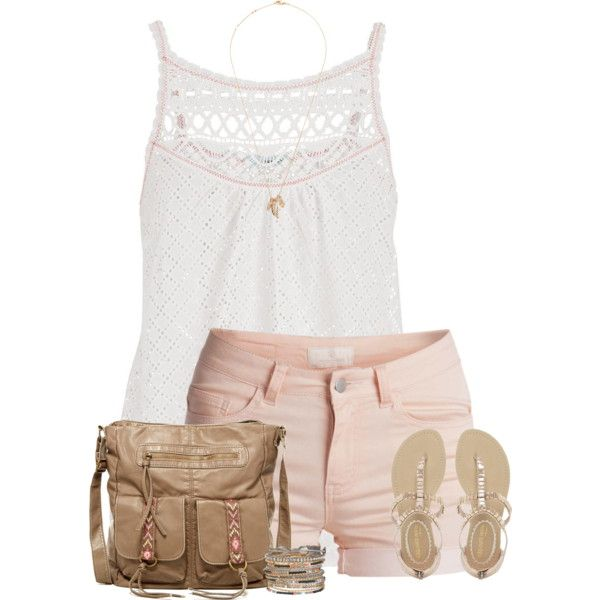 Heating up here in Texas by cindycook10 on Polyvore featuring polyvore, fashion, style, maurices, Pieces, NYLO, T-shirt & Jeans and Forever 21