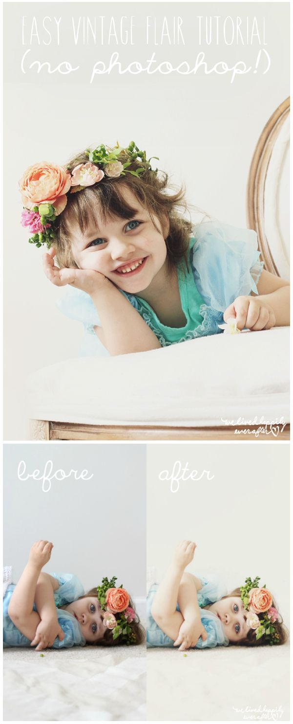 How I edit my photos with vintage filters (and no photoshop!)