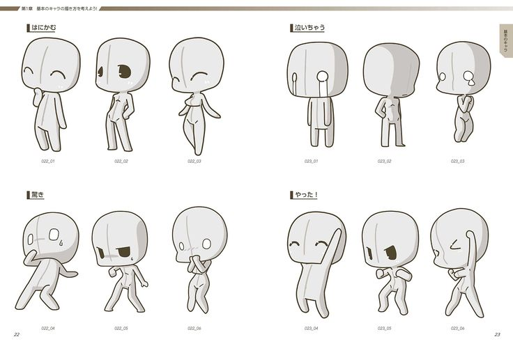 Anime Template for drawing expressions