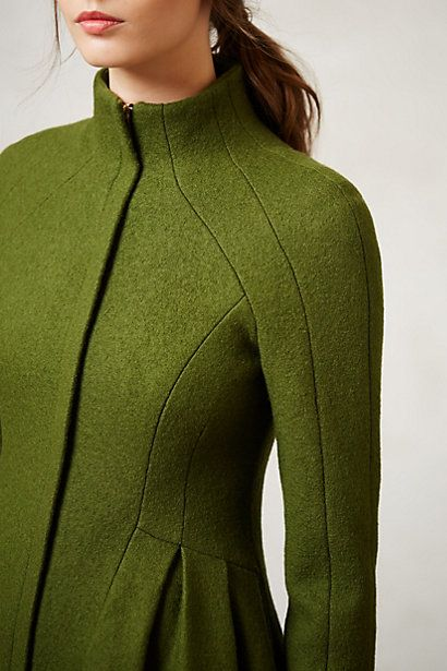 Love the color and tailoring of this coat. Skycape Coat in Green by Nanette Lepore, #Anthropologie