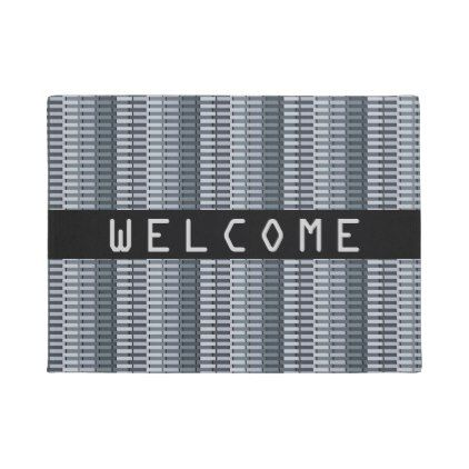 COOL Space Gray Contemporary Abstract Pattern Doormat - pattern sample design template diy cyo customize