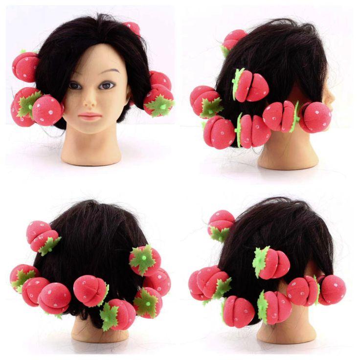 12 pcs Rollers Curlers Strawberry Balls Hair Care Soft Sponge Lovely DIY Tool krultang rizador pelo Newest