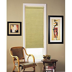 @Overstock - Give your home decor a quick make-over with a casual window shade  Window treatment gently filters incoming light  Roller-style blind boasts an elegant mechanism to roll the shade up and downhttp://www.overstock.com/Home-Garden/Woven-Sage-Roller-Shade-35-in.-x-72-in./3309183/product.html?CID=214117 $16.99