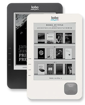 This is what I have...Kobo eReader. Fun to have, but still doesn't replace books:)