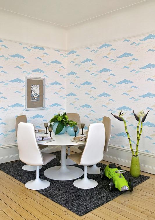 En naturinspirert tapet som passer like godt på barnerommet som i stua. Fra kolleksjonen Galleri #Wallpaper