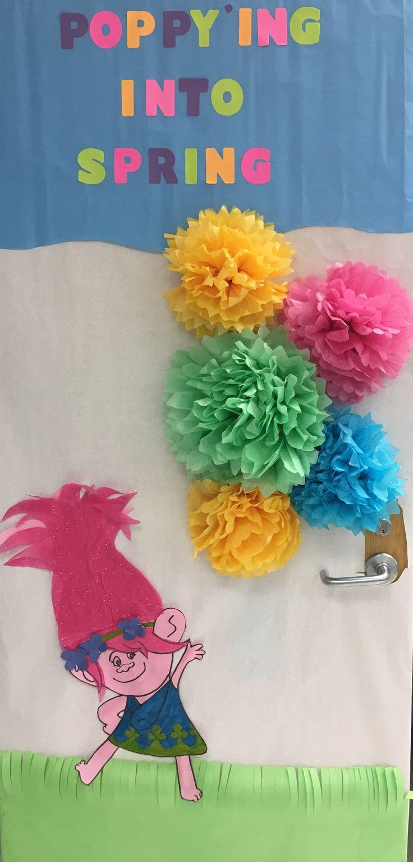 Spring Themed Door Decoration Trolls Princess Poppy Door