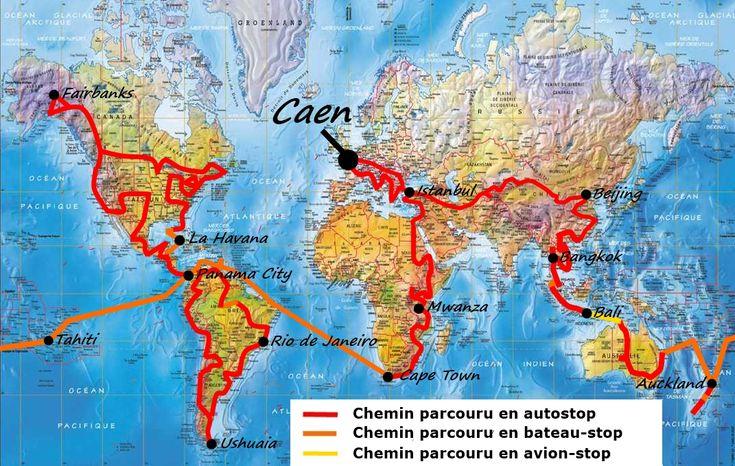 Le Tour du monde en autostop  de Jeremy Marie, une sacrée aventure.
