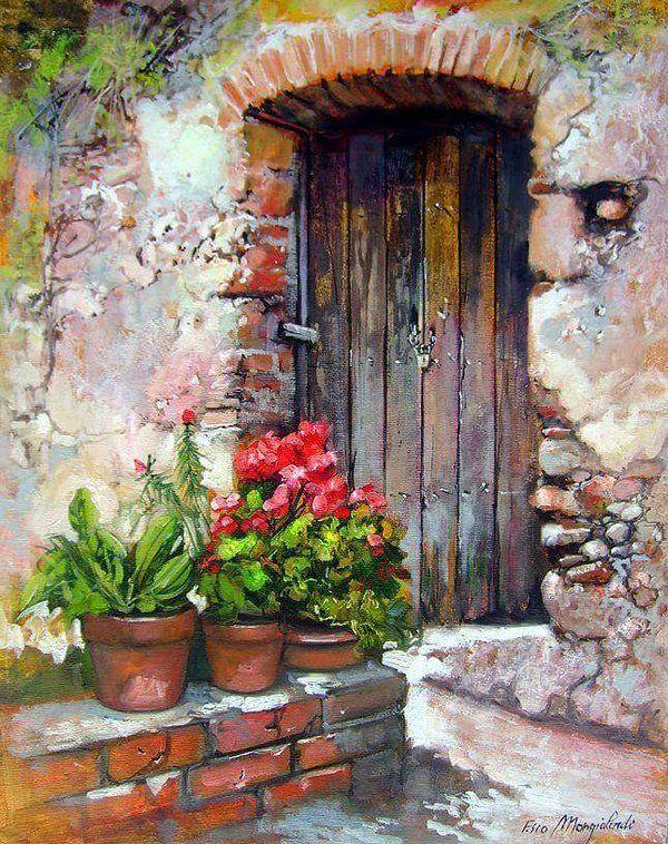 Blue Doors Crayons Pastel Oil Paintings Acrylic Paintings Watercolour Painting Painting Art Watercolor Ideas Claude Marie & 942 best Paintings: doors windows stairs images on Pinterest ...