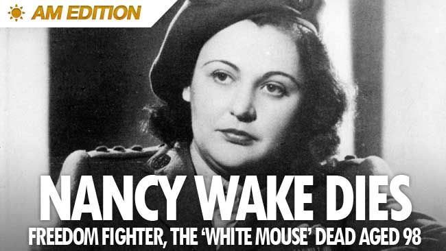 Nancy Wake - The White Mouse. She was the Allies' most decorated servicewoman of WWII, and the Gestapo's most wanted person. They code-named her 'The White Mouse'. She led an army of 7,000 Maquis troops in guerrilla warfare to sabotage the Nazis. Nancy Wake was born in Wellington in 1912.