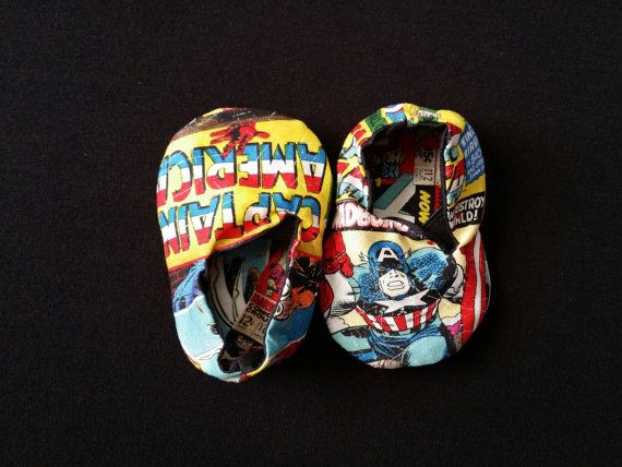 Hey, I found this really awesome Etsy listing at https://www.etsy.com/listing/187843073/captain-america-marvel-baby-shoes-6-12