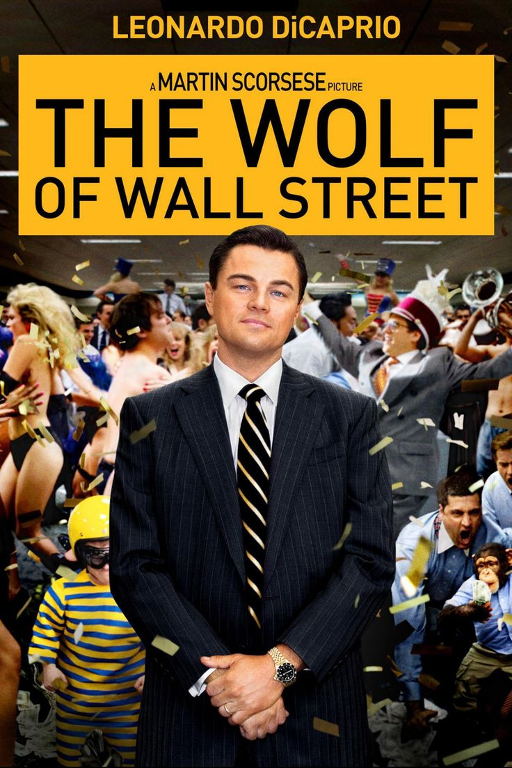 The Wolf of Wall Street is a 2013 American biographical black comedy crime film directed by Martin Scorsese. The screenplay by Terence Winter is adapted from the memoir of the same name by Jordan Belfort and recounts Belfort's perspective on his career as a stockbroker in New York City and how his firm Stratton Oakmont engaged in rampant corruption and fraud on Wall Street that ultimately led to his downfall. Leonardo DiCaprio stars as Belfort (and also co-produced the film),