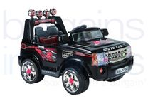 12V Rangie Styled Ride On Car - Black (Twin 6V)