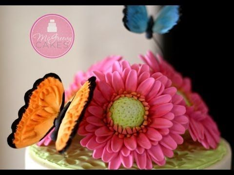 ▶ To Make a Gumpaste Gerber Daisy; A McGreevy Cakes Tutorial - YouTube