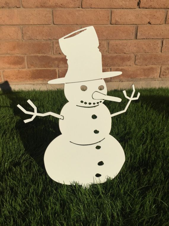 snowman 01 metal yard art christmas decor christmas lawn decoration outdoor christmas. Black Bedroom Furniture Sets. Home Design Ideas