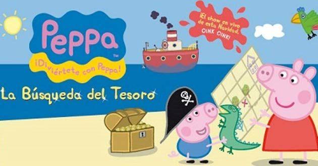 La Búsqueda del Tesoro de Peppa Pig llega esta navidad a A Coruña.  Un gran regalo para los más peques de la casa.