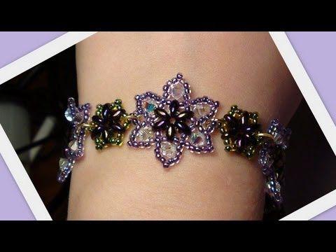 Easy Beaded Flower Bracelet Beading Tutorial by HoneyBeads (Photo tutorial), My Crafts and DIY