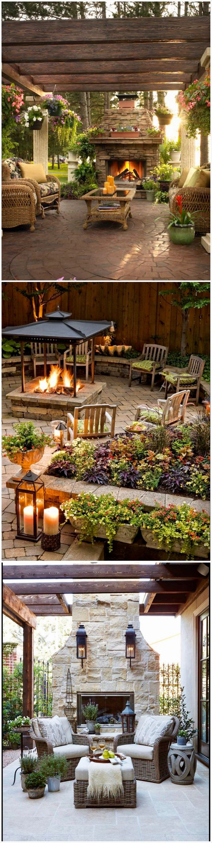 38 best outdoor fireplace images on pinterest for the home