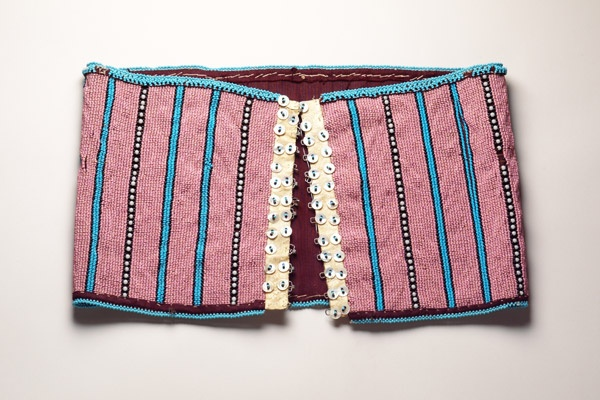 #StandardBank African Collection: Xhosa, #SouthAfrica Beaded girdle Beads, fabric, buttons, metal hook and eyes #Art