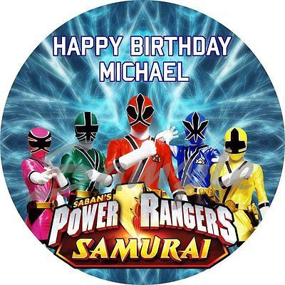 Power Ranger Cake Toppers | pin power rangers samurai edible image frosting cake topper decoration