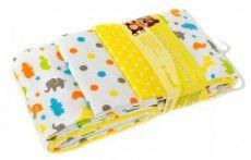 T-tomi Látkové pleny, sada 4 kusů, žluté žirafy- 289Kč