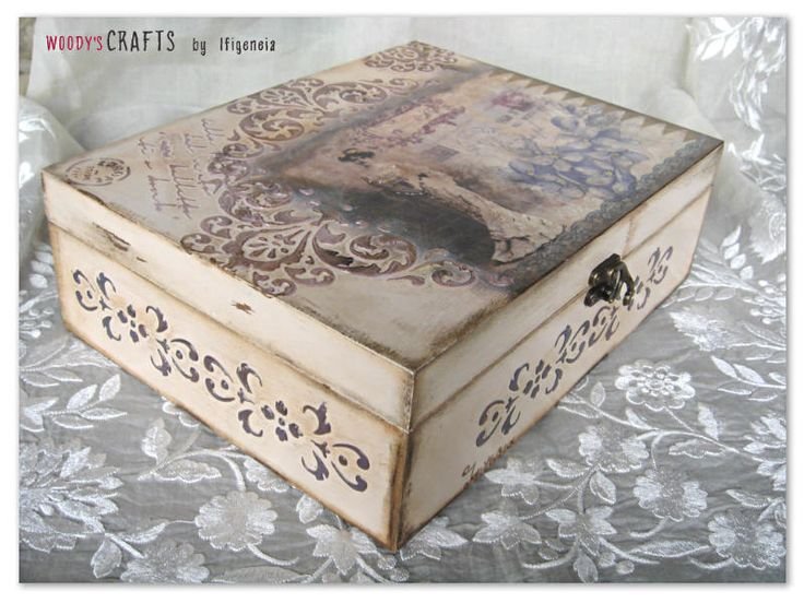 Χειροποίητη κοσμηματοθήκη   Κουτιά Αποθήκευσης   Περισσότερα στη διεύθυνση: http://j.mp/woodys-crafts-gallery-bizoutieres