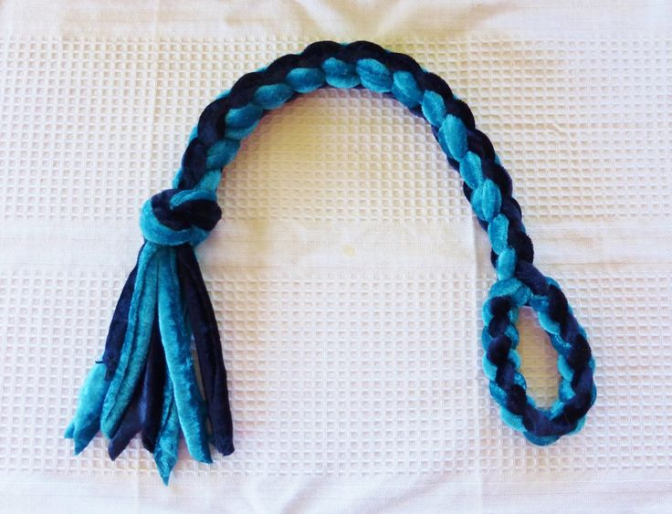 4 strand velvet tug toy with handle $17