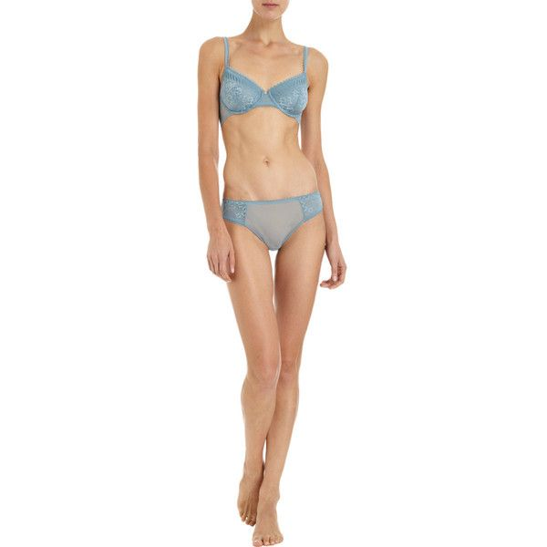 La Perla Looking For Love Brief (€42) ❤ liked on Polyvore featuring intimates, panties, body parts, doll parts, light blue bikini, la perla bikini, la perla and reversible bikini