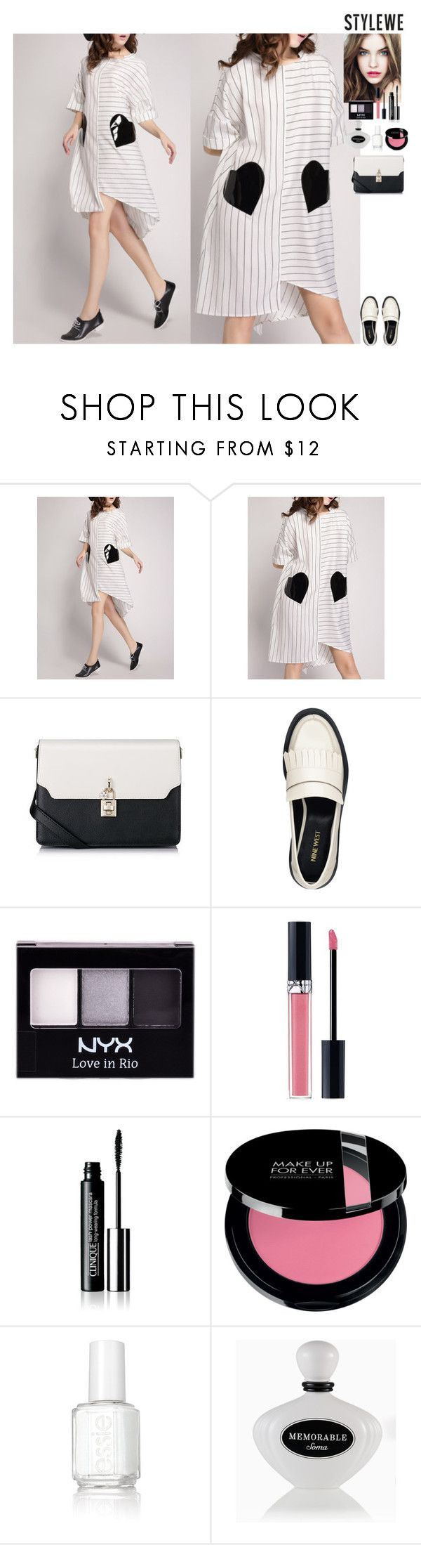 Streetstyle StyleWe by eliza-redkina on Polyvore featuring мода, Nine West, Christian Dior, NYX, Soma, Essie and L'Oréal Paris