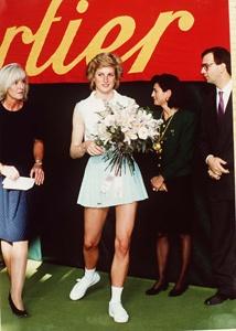 Diana, Princess of Wales at Cartier Tennis Tournament 1989