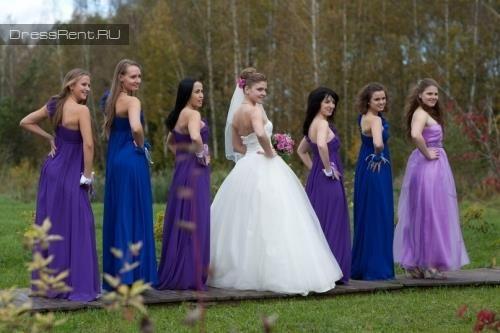 Платье подружек невесты напрокат