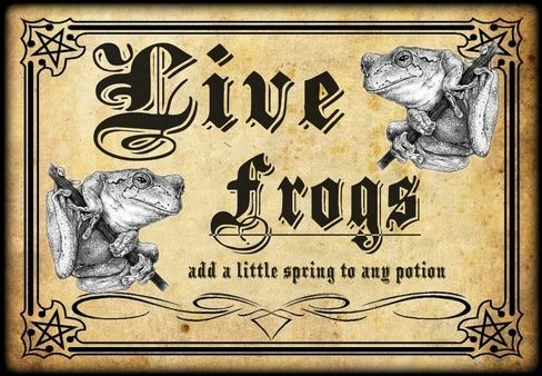 Halloween Potion Names | Name: Live Frogs potion bottle lable.jpgViews: 729Size: 98.9 KB
