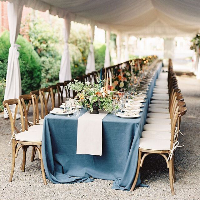 This beautiful wedding is published on @snippetandink with a very talented group of friends. @sinclairandmoore turned this gravel alley into a tented reception site for 100 people, how amazing is that? #film #contax645