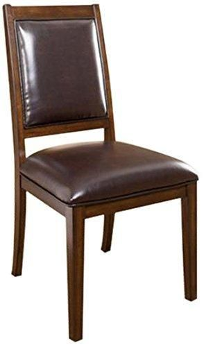 Ashley Furniture Signature Design Holloway Dining UPH Side Chair Mahogany Stain Finish Set of 2