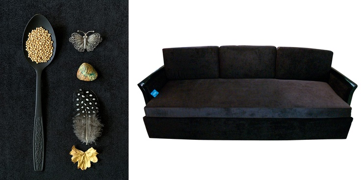 Black sofa. Black idea.  *Disponible https://www.facebook.com/TSantaVoluntad