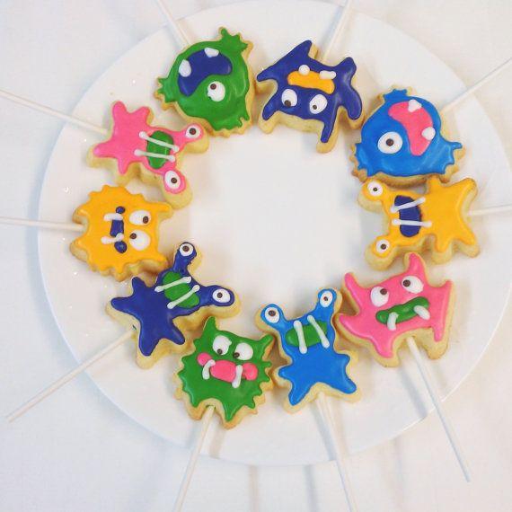 Monster Cookies  One dozen 12 Cutest little by MadameGingerbread