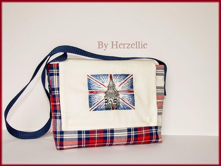 Tasche Stickdatei Stadtreise Londdon Union Jack-England Fahne