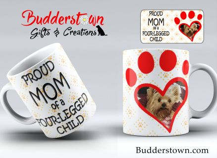 Sit down to a hot cup of coffee or tea and dote upon your pawtastic & adorable four-legged child!  The perfect gift for for all canine and feline parents. Give the gift that keeps on giving and will bring a smile to that special animal lovers face every time they use it.  Our mugs are offered in 11oz & 15oz sizes.  Mugs are microwave & dishwasher safe, made with high quality materials and are made here in the USA by a small family business.  Want to create your own mug from scrat...