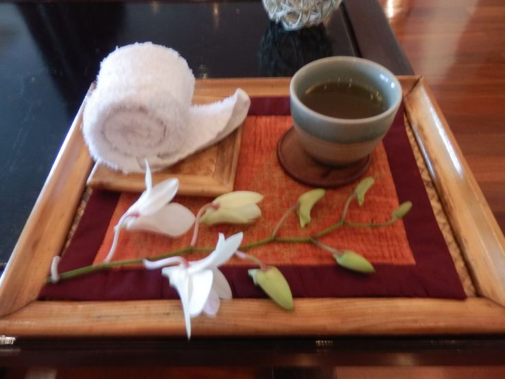 Welcome tea at The Spa - Day Spa at Hilton Hua Hin in Thailand