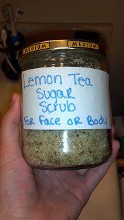 Frugal Jes: Lemon Tea Sugar Scrub