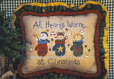 Buy All Hearts Warm At Christmas Chartpack Online at www.sewandso.co.uk