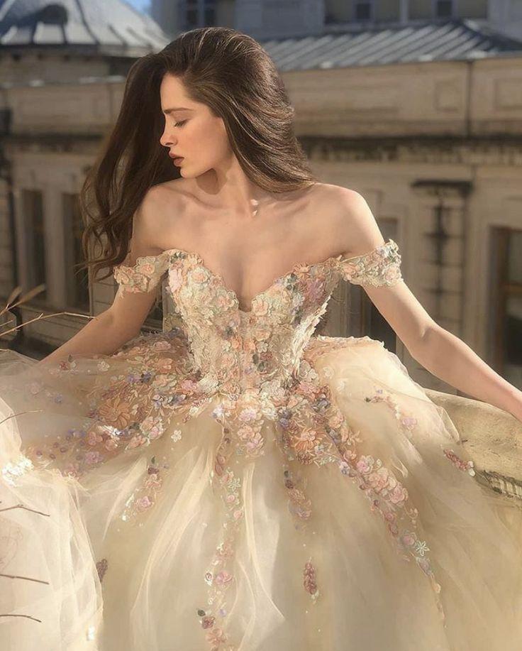 Cottagecore wedding dress floral prom dresses ball